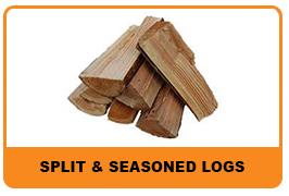 split & seasoned logs
